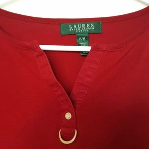 Lauren Ralph Lauren Tops - Lauren Ralph Lauren Basic Red Tee